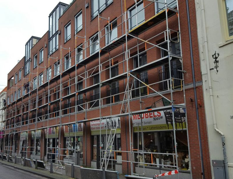 Steiger opbouw winkelstraat
