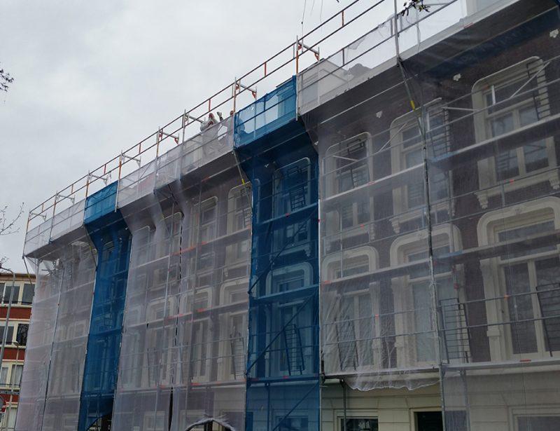 Werkgordijnen steiger dak huren